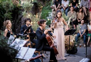 Concert en plein air à Paris